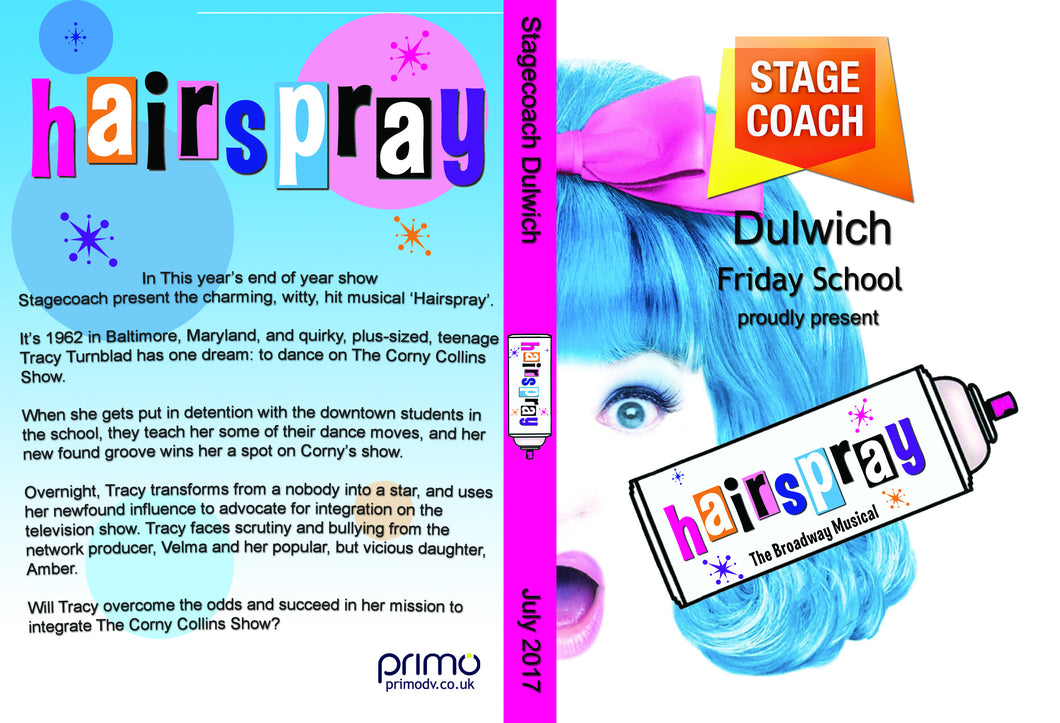 Hairspray - Stagecoach Dulwich/Tooting/Mitcham/Merton Park (incl. P&P)