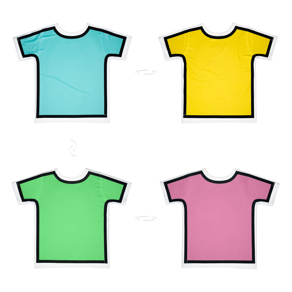 Bright Colours Outlined | Original T-Shirt 4 sides | Uztzu