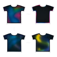 Iridescence Outlined | T-Shirt Originale 4 lati | Uztzu