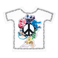 Peace and Love | Pop T-Shirt 4 lati | Uztzu