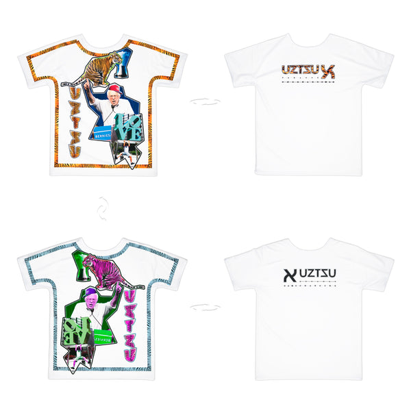 Bernie and the Tiger | Pop T-Shirt 4 sides | Uztzu - Uztzu Clothing - Shop Super 4X4 T-shirts, Pants and hoodies online!