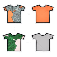 Bold Geometry Outlined | T-Shirt Originale 4 lati | Uztzu