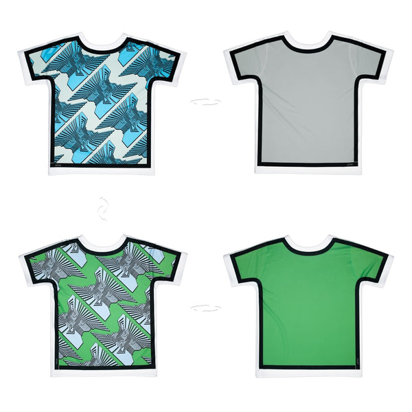Geometric Column Outlined | T-Shirt Originale 4 lati | Uztzu