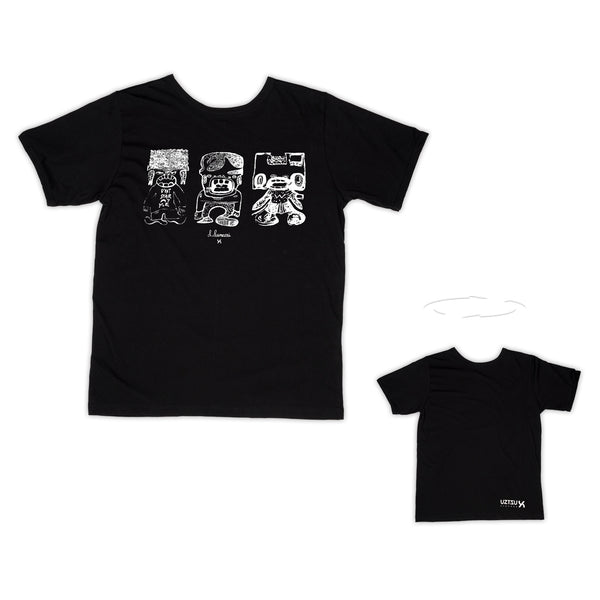 Three Puppets | T-Shirt Lunazzi 2 sides | Uztzu - Uztzu Clothing - Shop Super 4X4 T-shirts, Pants and hoodies online!