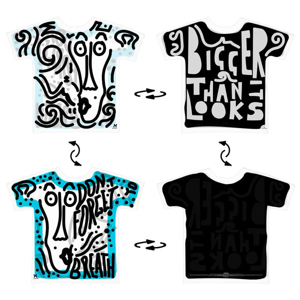 Super 4Way Reversible Bigger Than It Looks print t-shirt UZTZU® - Uztzu Clothing - Shop Super 4X4 T-shirts, Pants and hoodies online!