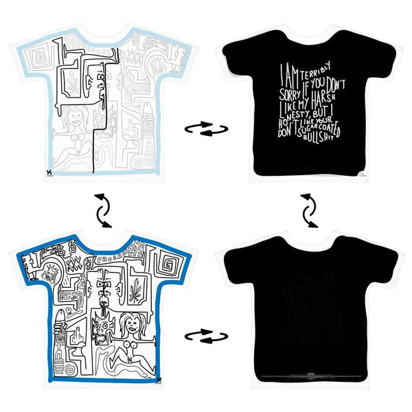Super 4Way Reversible What Do You See print t-shirt UZTZU® - Uztzu Clothing - Shop Super 4X4 T-shirts, Pants and hoodies online!
