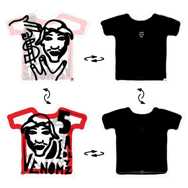Super 4Way Reversible Who Killed 2Pac print t-shirt UZTZU® - Uztzu Clothing - Shop Super 4X4 T-shirts, Pants and hoodies online!