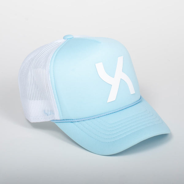 Cappello Emblem White & Turquoise Baseball Trucker - Foam | Uztzu - Uztzu Clothing - Shop Super 4X4 T-shirts, Pants and hoodies online!