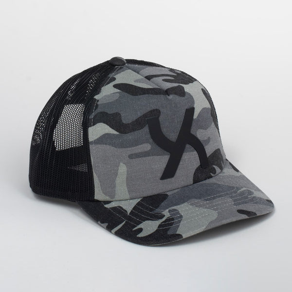 Cappello Emblem Camo & Black Baseball Trucker | Uztzu - Uztzu Clothing - Shop Super 4X4 T-shirts, Pants and hoodies online!