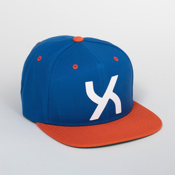 Cappello Emblem Blue & Orange Classic Snapback | Uztzu - Uztzu Clothing - Shop Super 4X4 T-shirts, Pants and hoodies online!