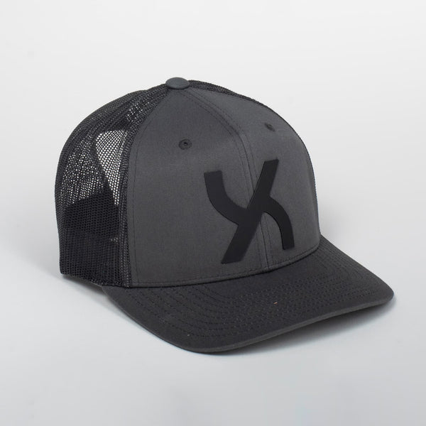 Cappello Emblem Gray & Black Baseball Trucker | Uztzu