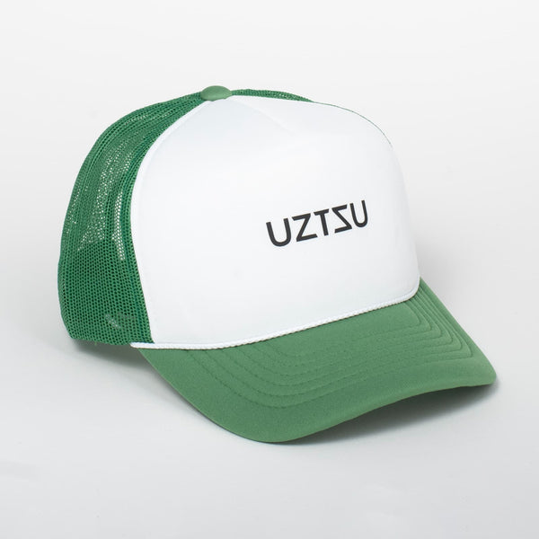 Cappello Logo White & Green Baseball Trucker - Foam | Uztzu