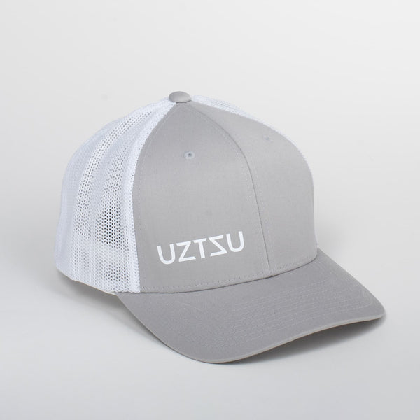 Cappello Logo White & Gray Baseball Trucker | Uztzu - Uztzu Clothing - Shop Super 4X4 T-shirts, Pants and hoodies online!