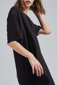 Women's Mamba BLACK Short-to-Long  Shirt - UZTZU 4-Ways Reversible T-Shirts