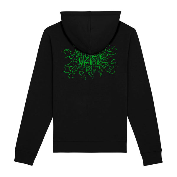 Black Summer Hoodie Print Back Logo Organismic UZTZU® - Uztzu Clothing - Shop Super 4X4 T-shirts, Pants and hoodies online!
