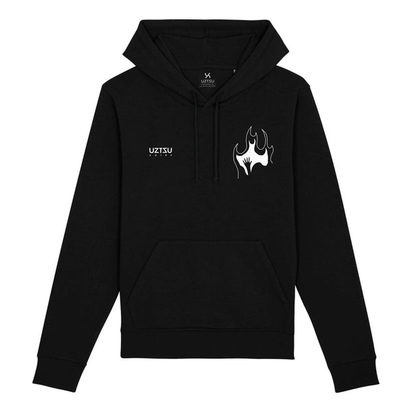 Black Summer Hoodie Print Burn In Fire UZTZU®