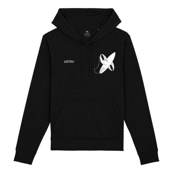 Black Summer Hoodie Print Crab Leg Surfing Logo UZTZU® - Uztzu Clothing - Shop Super 4X4 T-shirts, Pants and hoodies online!
