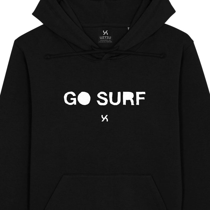 products/Uztzu-Go-Surf-black-hooded-sweatshirt-front-detail.jpg