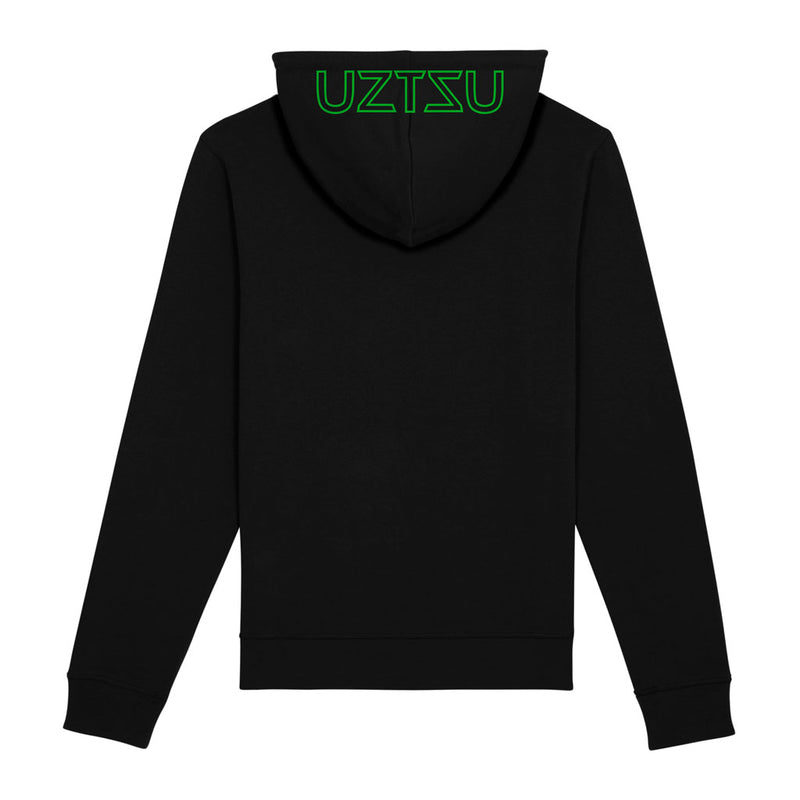 products/Uztzu-Hood-Logo-Green-black-hooded-sweatshirt-back.jpg