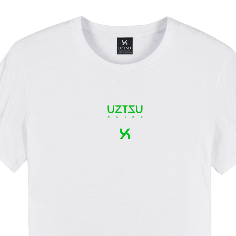 products/Uztzu-Logo-Edition-Small-Green-white-standard-tshirt-front-detail.jpg