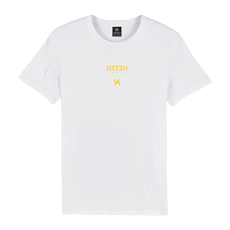 products/Uztzu-Logo-Edition-Small-Yellow-white-standard-tshirt-front.jpg