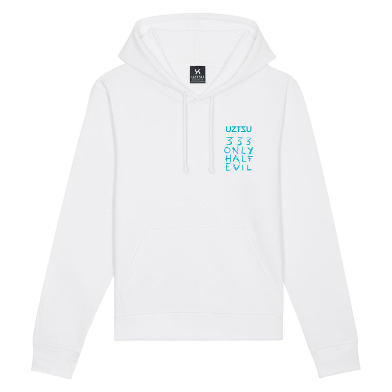 products/Uztzu-Only-Half-Evil-Light-Blue-white-hooded-sweatshirt-front.jpg