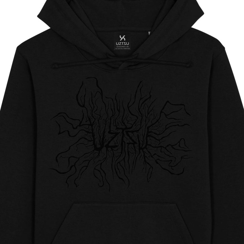 products/Uztzu-Organismic-Logo-Black-black-hooded-sweatshirt-front-detail.jpg