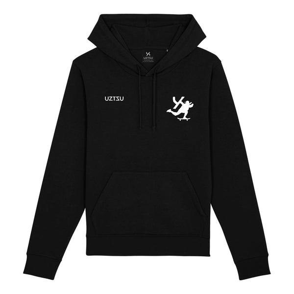 Black Summer Hoodie Print Skate Fast UZTZU® - Uztzu Clothing - Shop Super 4X4 T-shirts, Pants and hoodies online!
