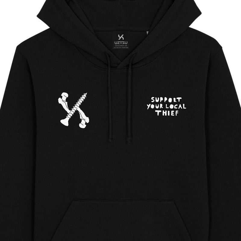 products/Uztzu-Support-Your-Local-Thief-black-hooded-sweatshirt-front-detail.jpg