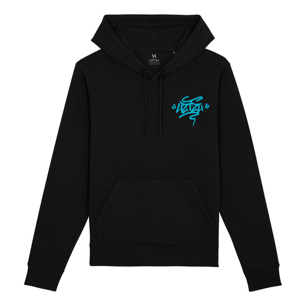 Black Summer Hoodie Print Uztzu+Fulish Graffiti UZTZU®