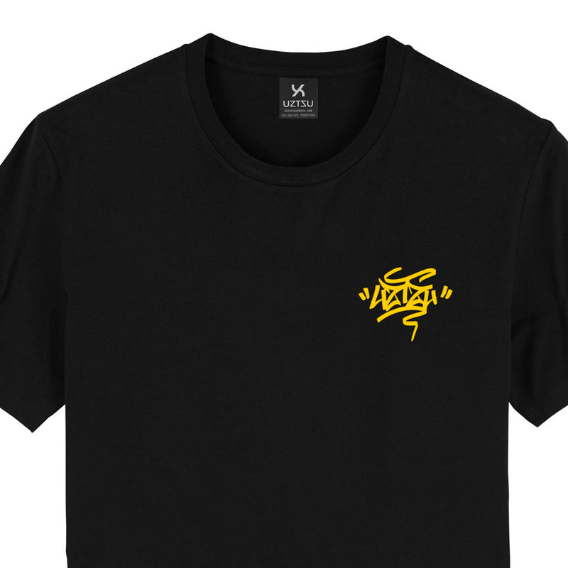products/Uztzu-Uztzu_Fulish-Graffiti-tag-Yellow-black-standard-tshirt-front-detail.jpg