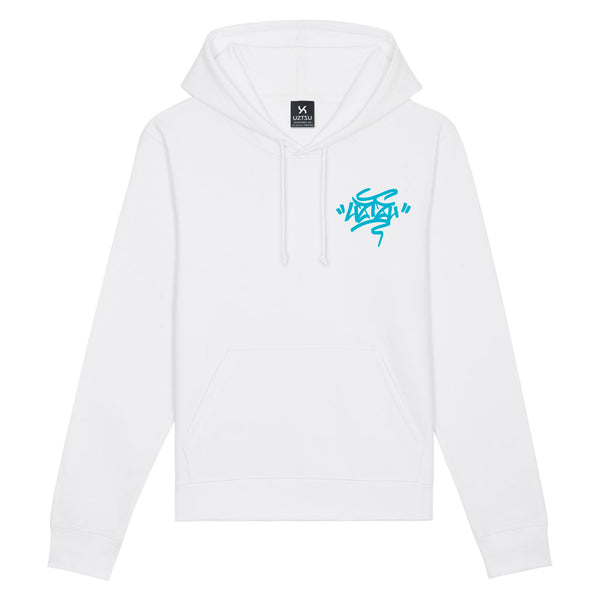 White Summer Hoodie Print Uztzu+Fulish Graffiti UZTZU®