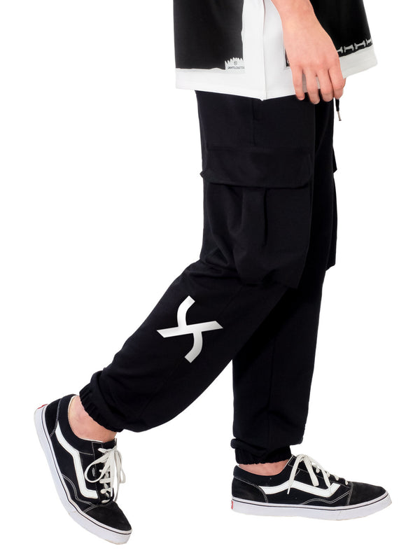 Black Cargo Jogger Sweatpant Logo UZTZU® - Uztzu Clothing - Shop Super 4X4 T-shirts, Pants and hoodies online!