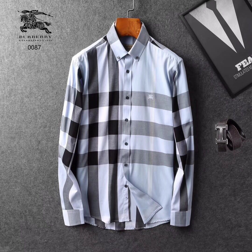 8962fa3cda Burberry Men Shirt Silver   Black – visit moda