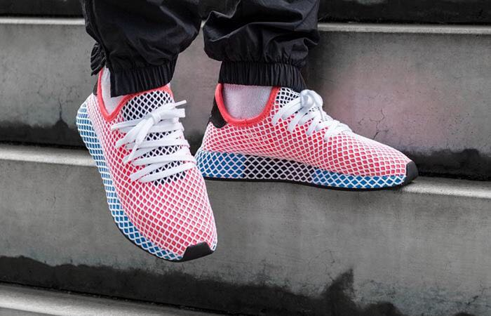Adidas Men Shoes Tubular Shadow Knit , Red Color , Frame Blue