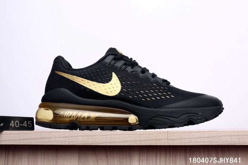 Max Nike Air Shoes Black Men Letter ColorGold Y6gbI7vfy
