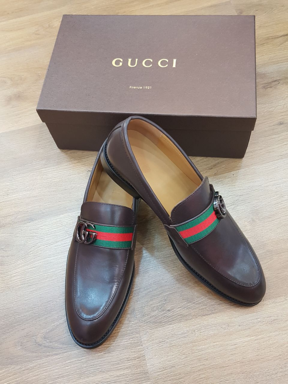 3e010da4e5 Gucci Men Shoes Full Brown Color