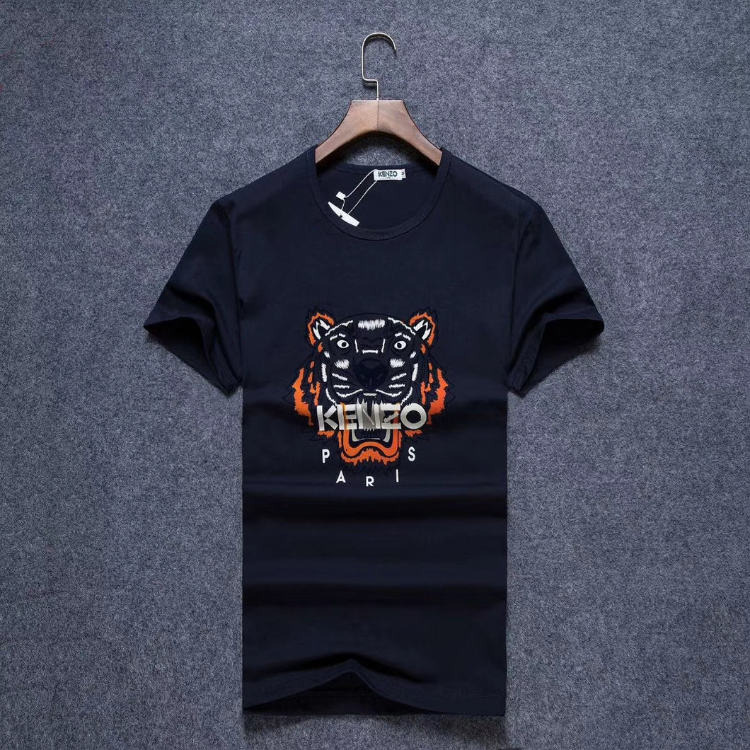 c087bc255 Kenzo Men T-Shirt Blue Black Color , Orange Lion Print – visit moda