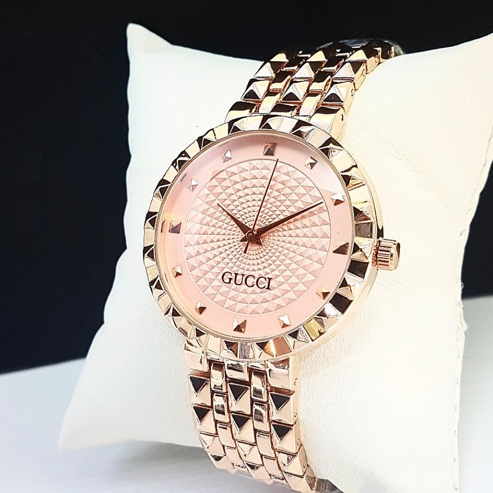 576c1647ef8 Gucci Women Watches Stainless Steel Strip Rose Gold With Stras ...