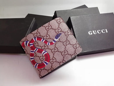 dd9601db5c20 Gucci Men Wallet Brown Color , Snake Print