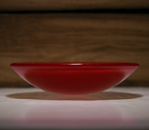 Well Made Stuff - Handmade Deep red opal colour fused art glass small bowl - something absolutely brilliant for Mr Oakley