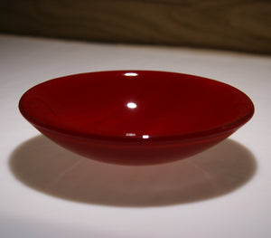Well Made Stuff - Handmade Deep red opal colour fused art glass small bowl - wonderful Christmas present idea