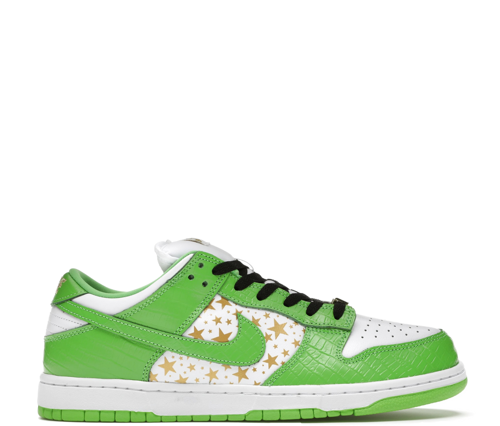 Nike SB Dunk Low Supreme Stars Mean Green 2021