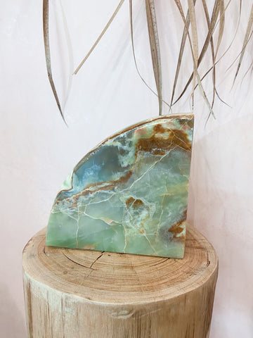 Green Onyx Book Ends