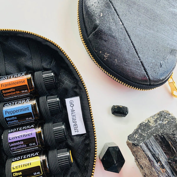 Essential Oil Case - Black Tourmaline - The Wong Way