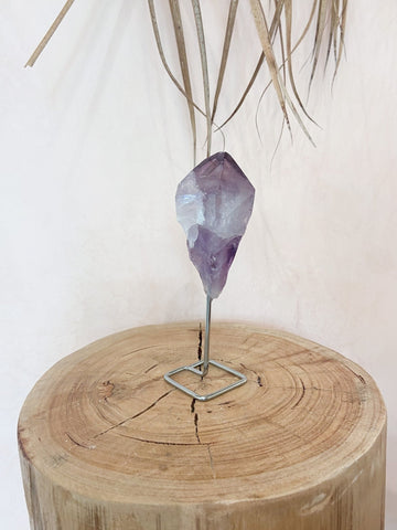 Purple Amethyst Point on stand - The Wong Way