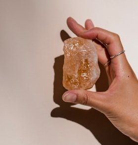 Raw Citrine Cluster - The Wong Way
