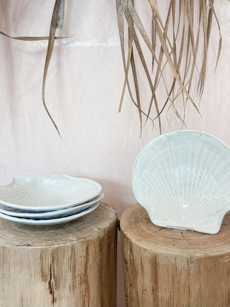 Scallop Shell Ceramic Dish - The Wong Way