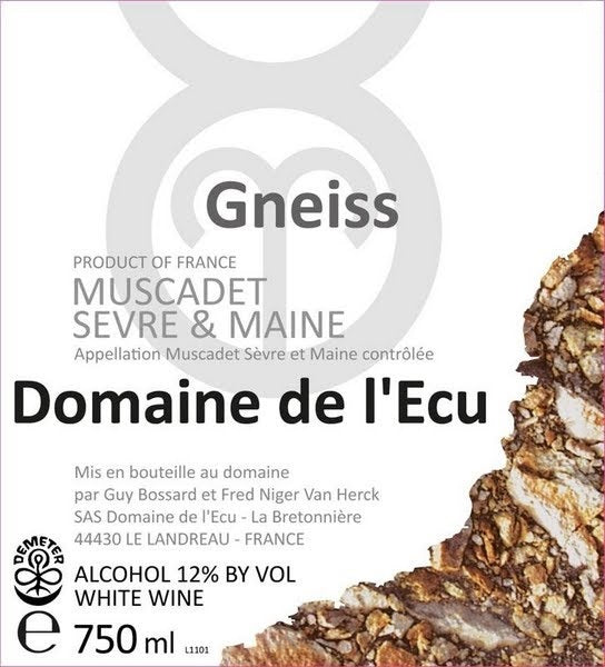Muscadet 'Expression de Gneiss' Domaine de l'Ecu 2015 (OUT OF STOCK)