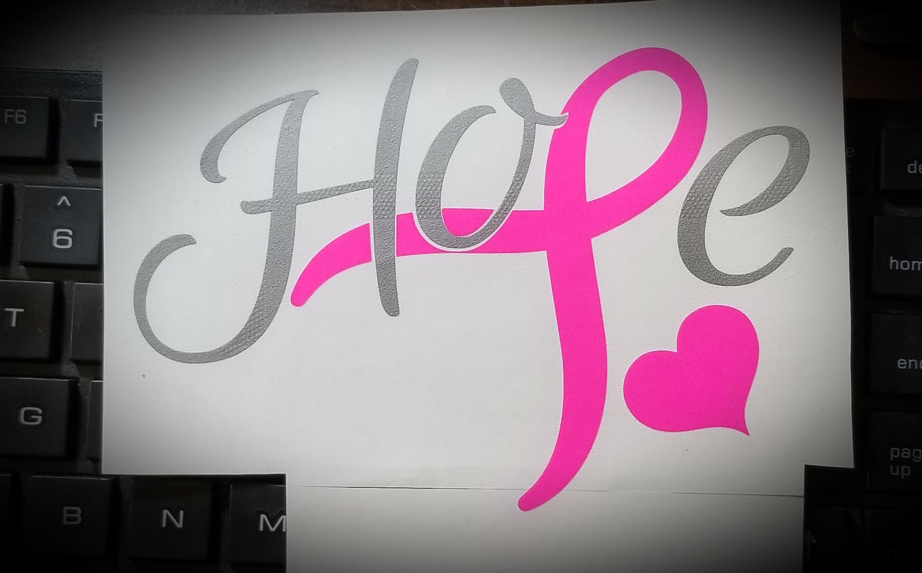 Hope Breast Cancer Stickers